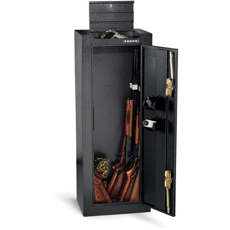 Homak Gun Cabinets Canada by Homak 174 14 Gun Cabinet Safe Silver Vein 126542 Gun