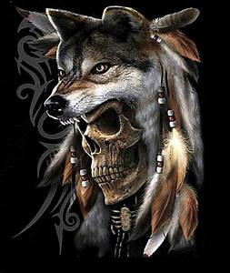 Wolf Skull | Tattoos - have & want | Pinterest | Skulls ...