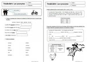 fiche ce1 synonymes