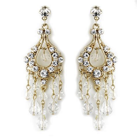 swarovski rhinestone chandelier earrings e 9685