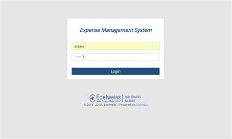 Edelweiss Expense Management System Skyindya