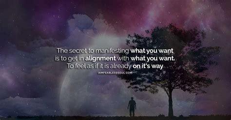 manifest     secret  manifesting  desires