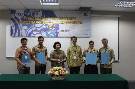 agreement signing research grant kemenristekdikti swiss