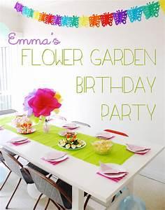 Emma's Flower Garden Birthday Party My Poppet Living