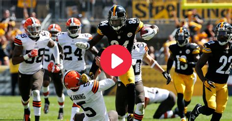 Antonio Brown Kicks Punter in All-Time Sports Photograph ...
