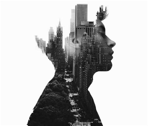 double exposure photographs  alexis  merges  world