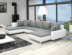 canape d39angle en u dante 6 places gris et blanc fabrico With canape d angle exterieur 0 grand canape dangle 6 places en u panoramique convertible