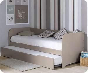 Pack lit gigogne bali lin 80x200 cm avec 2 matelas for Tapis chambre ado avec matelas 80 x 200 latex