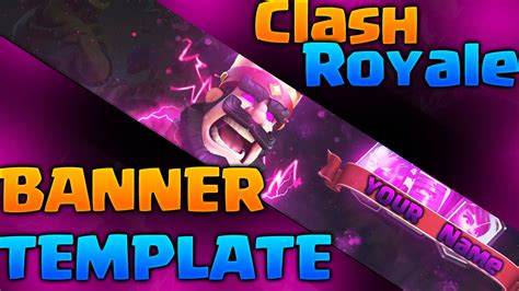 Banner Template De Clash Royale by Clash Royale Banner Template Free Youtube