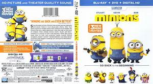 Minions Blu-Ray DVD Cover & Label (2015)
