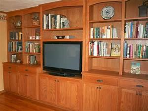 Custom, Living, Room, Cabinets