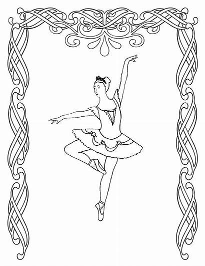 Coloring Ballerina Pages Ballet Printable Dance Adults