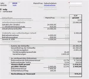 Zu Versteuerndes Einkommen Berechnen Tabelle : muster zur berechnung der einkommensteuer ~ Themetempest.com Abrechnung