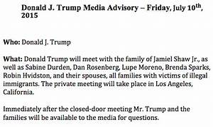 Trump to Meet with Families Of Victims Murderered by ...