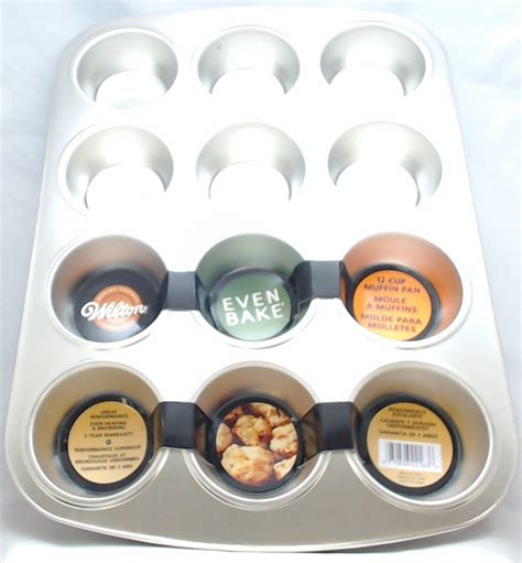 kitchen aid accessories 2105 2163 wilton even bake 12 cup muffin pan 2166
