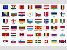 Design elements Europe flags Continent Maps Geo Map