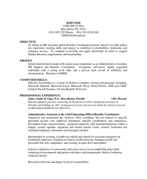 sample admin assistant resume templates  ms