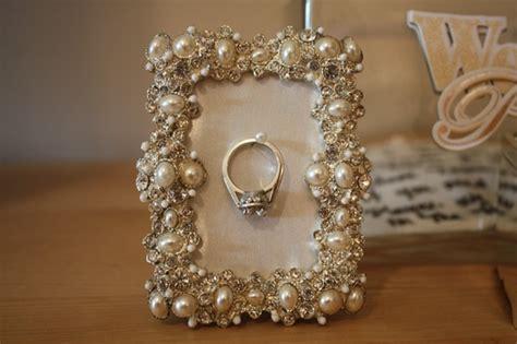 diy picture frame wedding ring holder
