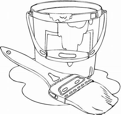 Paint Coloring Pages Spray Painting Tools Messy