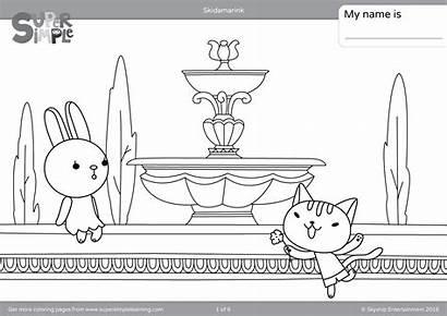 Skidamarink Coloring Pages Simple Super Dink Doo