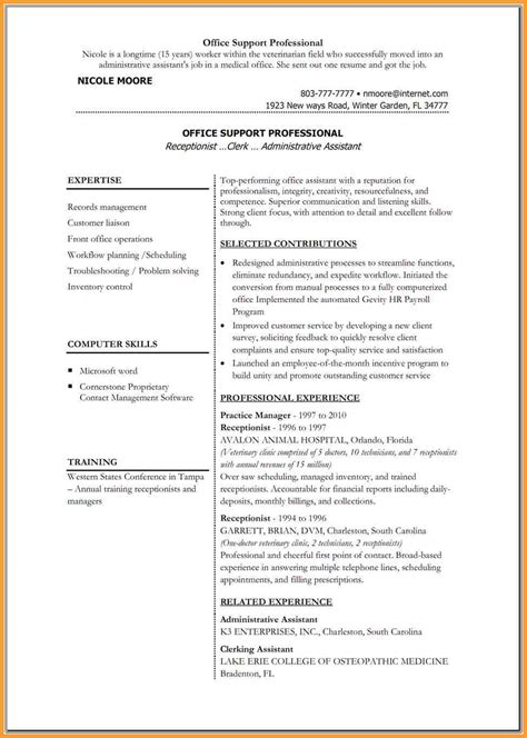Resume Outline Microsoft Word 2010 by Resume Templates For Microsoft Word Letter Format Mail