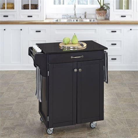 black wood kitchen cart with black granite top 9001 0044