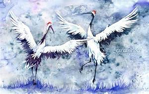 Red-crowned Cranes - Dance by Carcaneloce on DeviantArt