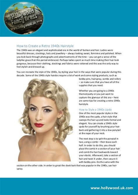 1940s S Hairstyles How To Create by How To Create A Retro 1940s Hairstyle