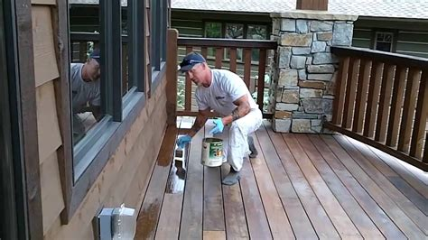 clear coating  exotic wood deck   stain  deck