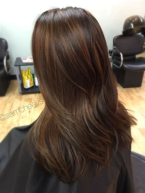 black  caramel chocolate brown hair balayage  dark hair types black hair