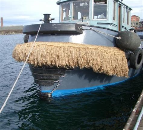 Boat Fenders Vancouver by Moustache Tugboats Grey River Netting Manufacturer