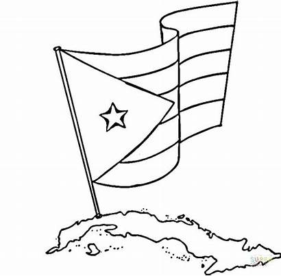 Coloring Flag Pages Puerto Guatemala Jamaica Flags