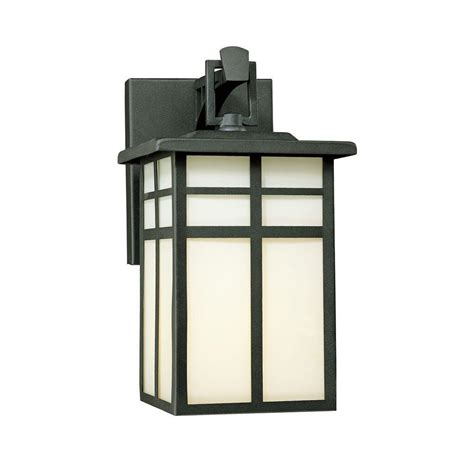 lighting mission 1 light black outdoor wall mount