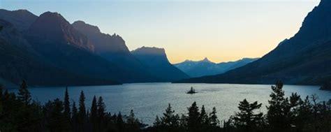sunset  st mary lake  wild goose island