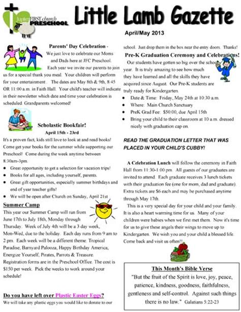 preschool newsletter quotes quotesgram 267 | 148863859 2013 April May Newsletter