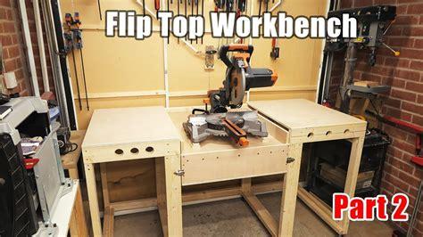 workbench   flip top mitre  station