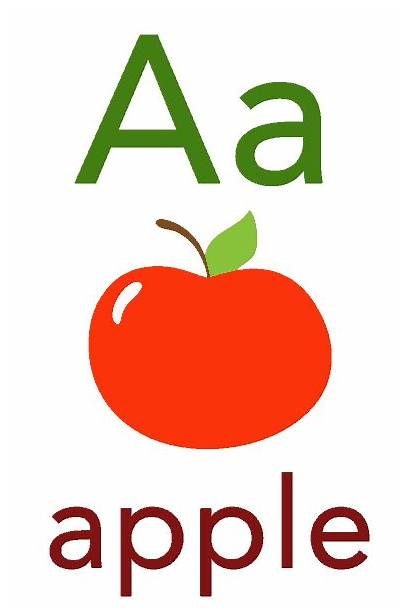 Flashcard Flashcards Abc Apples Toddlers Babies Children