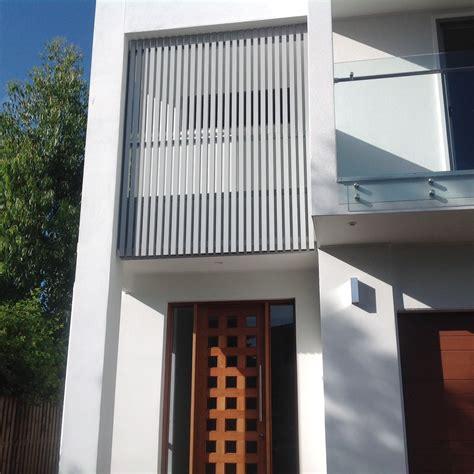 aluminium privacy screens louvres  laser cut architectural screens