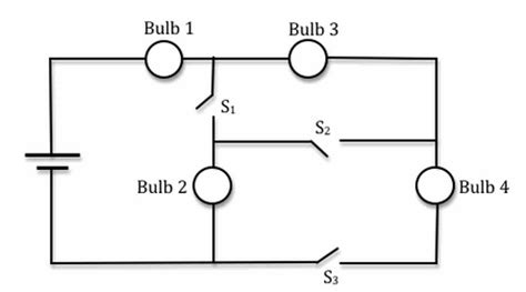 Solved The Circuit Shown Below Bulbs Are Identic