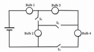 solved in the circuit shown below the 4 bulbs are identic With 3 switch light bulb
