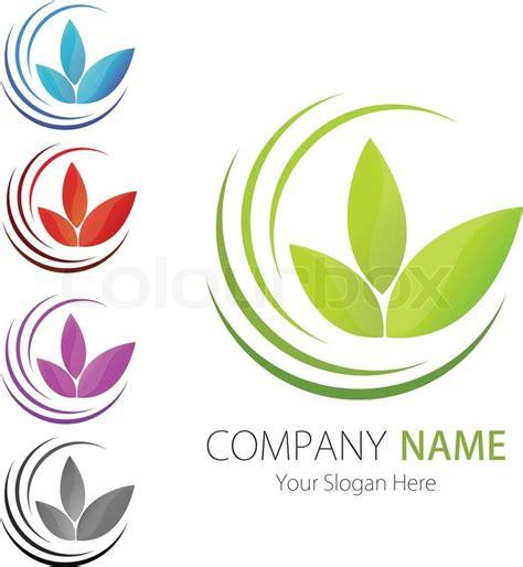 company business logo design vector leaf ecology stock vector colourbox