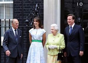 Queen Elizabeth II in The Queen Lunches with David Cameron ...