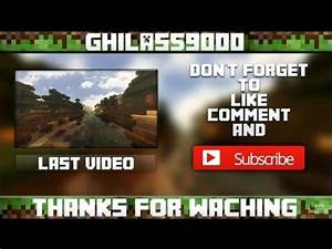 a minecraft outro template speed art funnydogtv With minecraft outro template movie maker