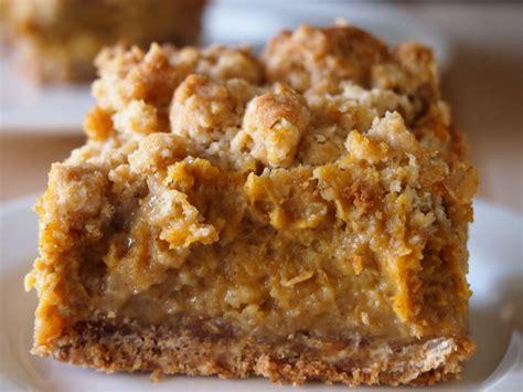 Pumpkin Praline Pie Recipe by Pumpkin Pie Crumb Bars Sundaysupper Pies And Plots