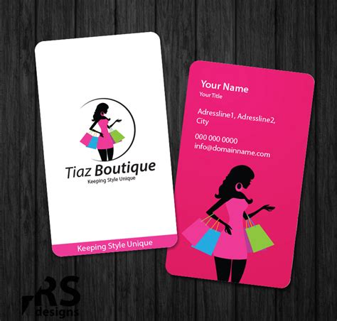 Business Card Design for Tiaz Boutique by Aaron Design