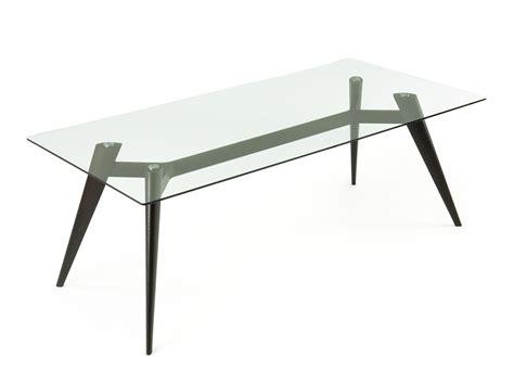 struttura tavolo tavolo in vetro con struttura a cavalletto banjamin