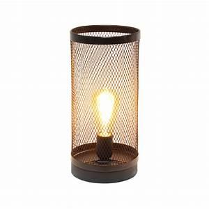 Simple, Designs, Black, Mesh, Cylindrical, Steel, Table, Lamp