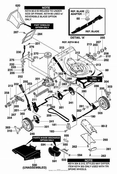Mower Murray Wheel Lawn Assembly Behind Drive