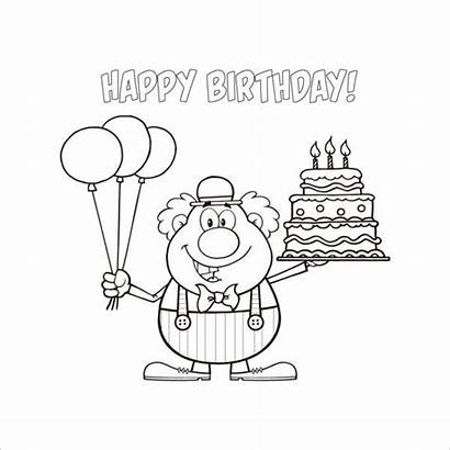 Coloring Birthday Happy Pages Printable Templates Colouring