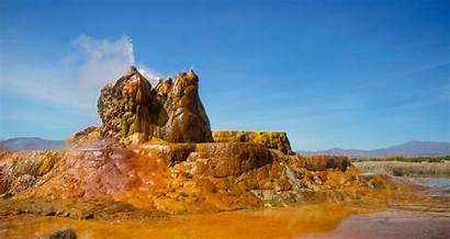 Geyser Nevada Rainbow Fly Burning Desert Lostateminor